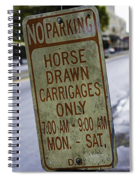 Horse Drawn Carriage Parking Spiral Notebook