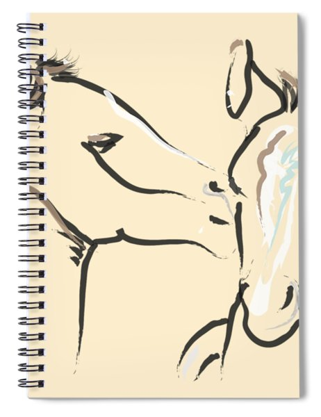 Horse-foals-together 6 Spiral Notebook