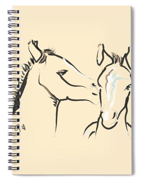 Horse-foals-together 6 Spiral Notebook