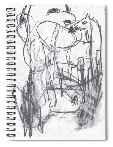 Horse Kiss Spiral Notebook