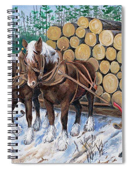 Horse Log Team Spiral Notebook