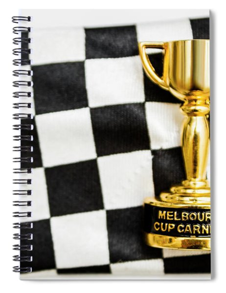 Horse Races Trophy. Melbourne Cup Win Spiral Notebook