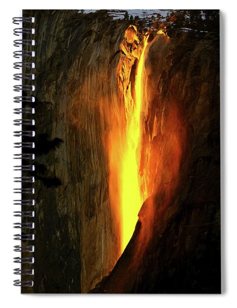 Horse Tail Fall Aglow Spiral Notebook
