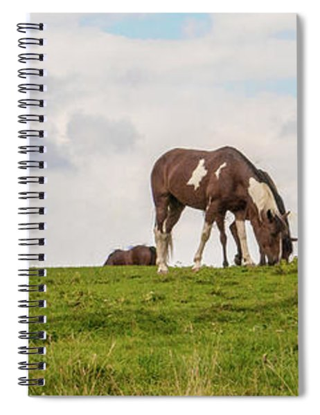 Horses And Clouds Spiral Notebook