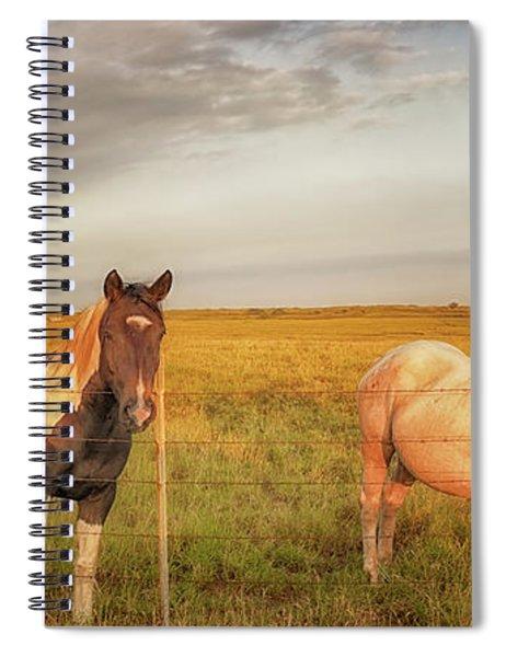 Horses At Kalae Spiral Notebook