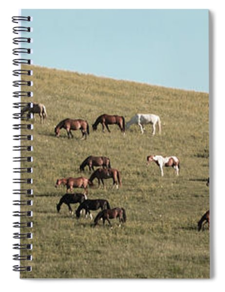 Horses On The Hill Spiral Notebook