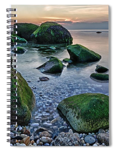 Horton Point Ny At Sunset Spiral Notebook