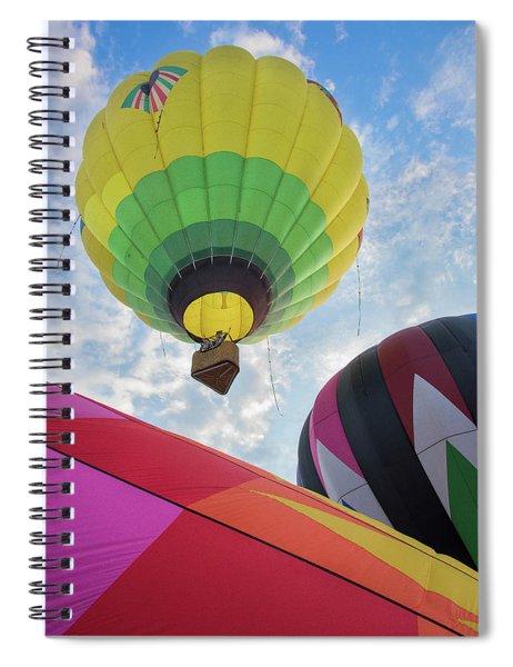 Hot Air Balloon Takeoff Spiral Notebook