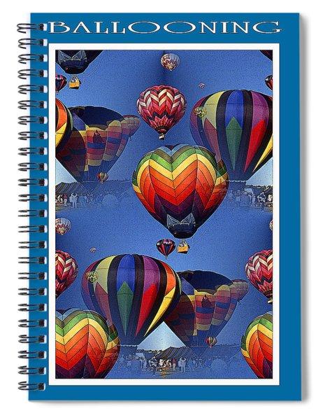 Hot Air Ballooning Poster Spiral Notebook