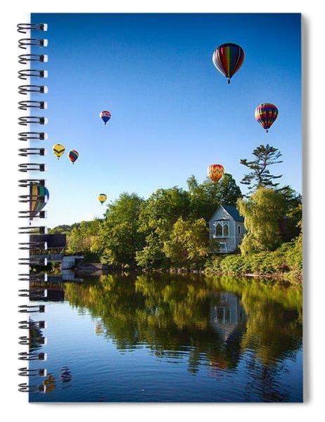 Hot Air Balloons In Quechee Spiral Notebook