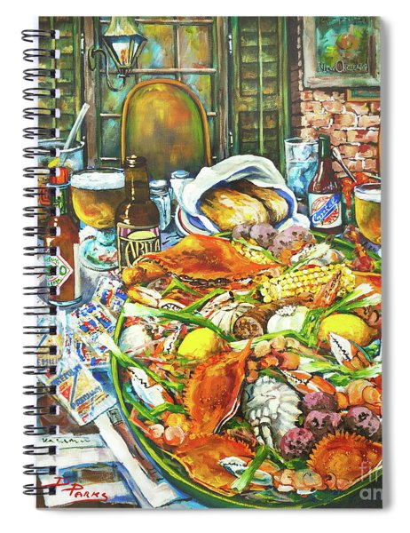Hot Boiled Crabs Spiral Notebook