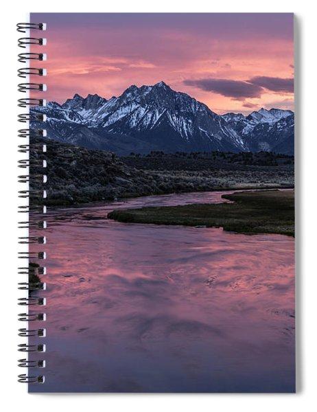 Hot Creek Sunset Spiral Notebook