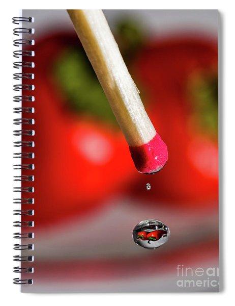 Hot Pepper Drops Spiral Notebook