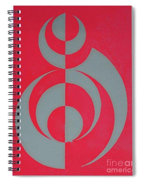 Hot Pink Dancer Spiral Notebook