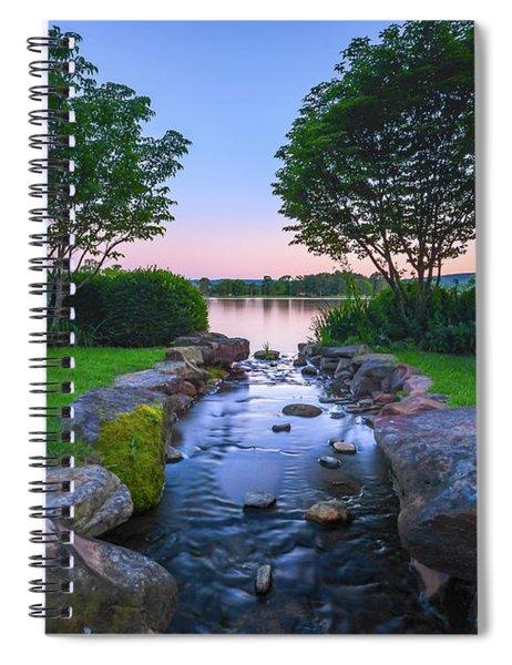 Hot Spring Water Flow Spiral Notebook