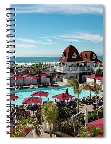 Hotel Del Pool Area Spiral Notebook