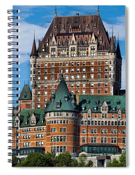 Chateau Frontenac In Quebec City Spiral Notebook