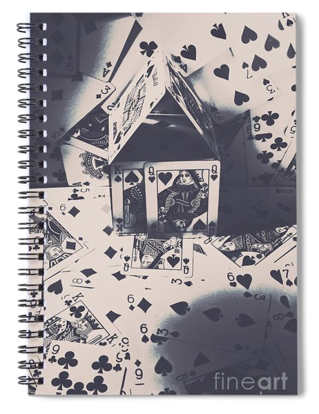 House Of Cards Spiral Notebook