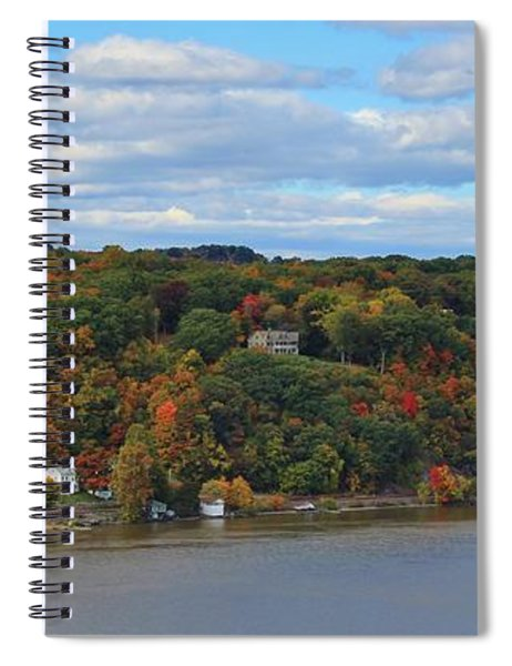 House On A Colorful Hill Spiral Notebook
