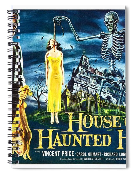 House On Haunted Hill Poster Classic Horror Movie  Spiral Notebook