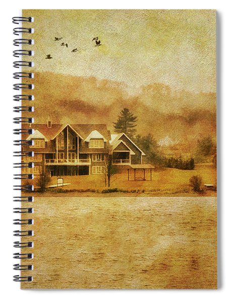 House On The Lake Spiral Notebook