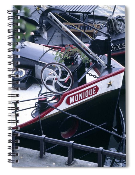 Houseboat In France Spiral Notebook