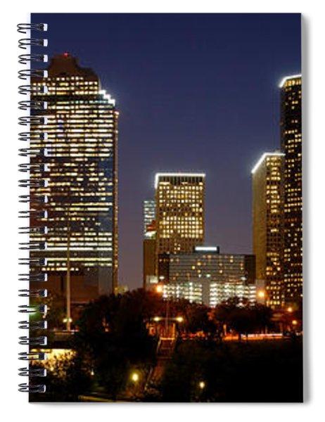 Houston Skyline At Night Spiral Notebook