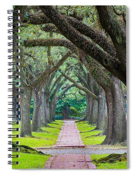 Houston Trees Spiral Notebook