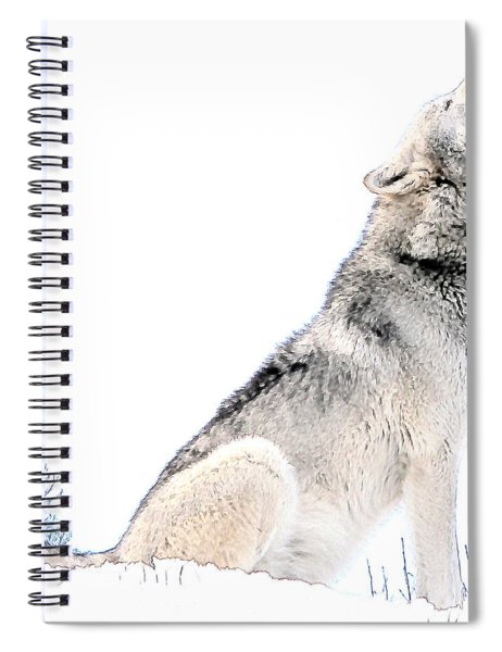 Howling Wolf 1 Spiral Notebook