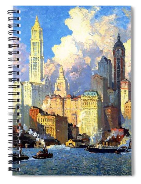 hudson river waterfront - N Y C Spiral Notebook