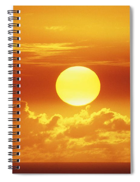 Huge Orange Sun Spiral Notebook