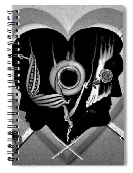 Hugs And Kisses Spiral Notebook