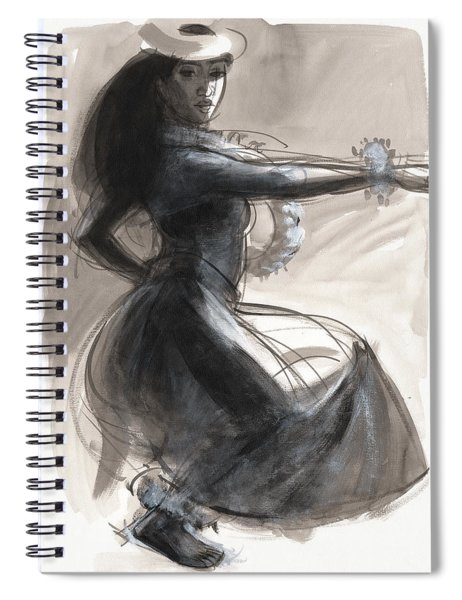 Kamehameha Hula Dancer Spiral Notebook