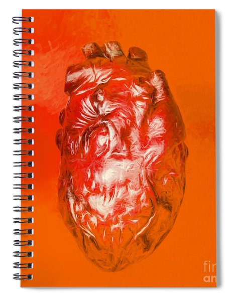 Human Heart In Digital Art Spiral Notebook