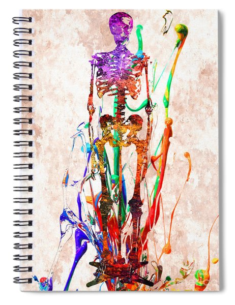 Human Skeleton Colored  Spiral Notebook