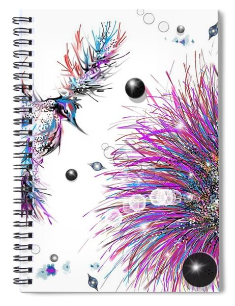 Humming Bird And Flower Spiral Notebook