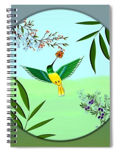 Humming Bird - Wall Art Spiral Notebook