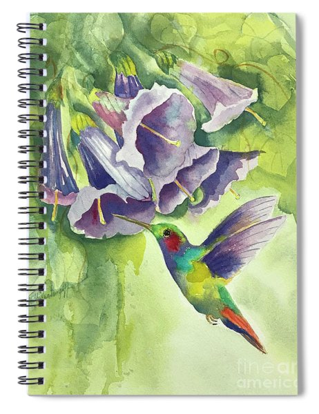 Hummingbird And Trumpets Spiral Notebook