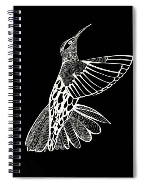 Hummingbird Drawing Spiral Notebook