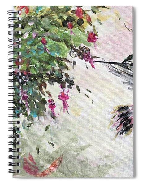 Hummingbird With Fuchsias Spiral Notebook