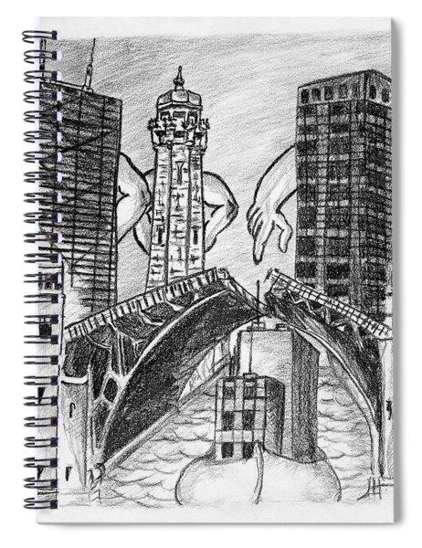 Humor Chicago Landmarks Spiral Notebook