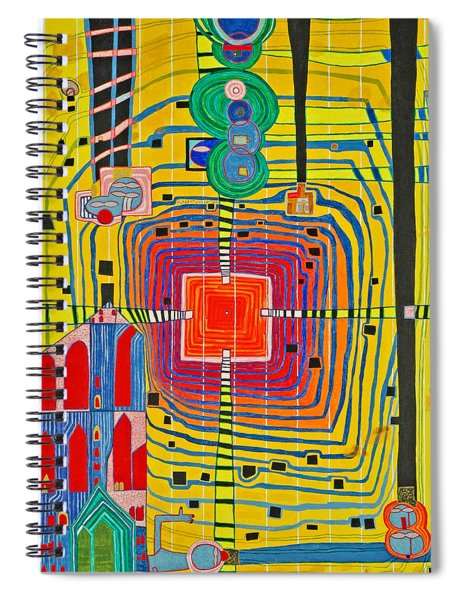 Hundertwassers Close Up Of Infinity Tagores Sun Spiral Notebook
