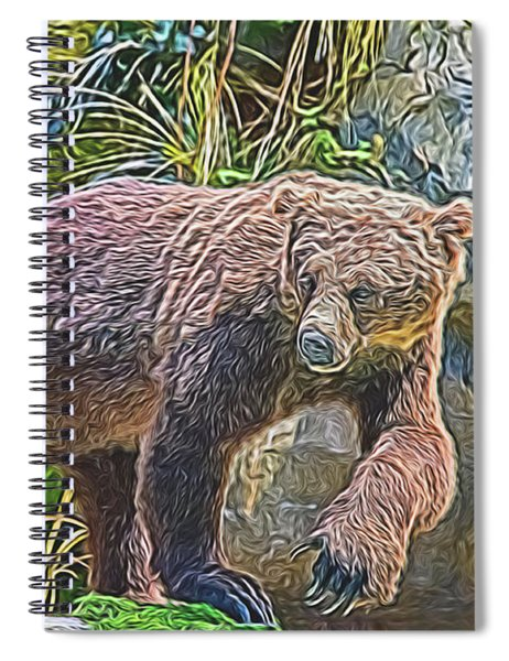 Hunting Bear Spiral Notebook
