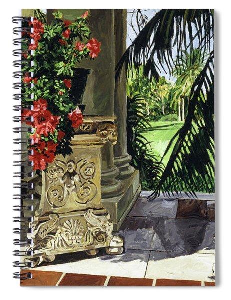 Huntington Loggia Azaleas Spiral Notebook
