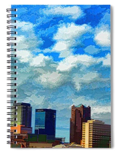 Huntsville Alabama Skyline Abstract Art Spiral Notebook