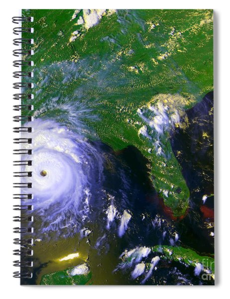 Hurricane Andrew, Goes Image, 1992 Spiral Notebook