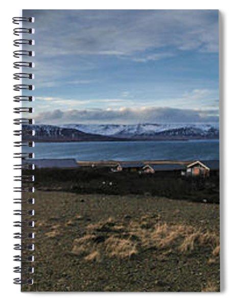 Hvalfjorour Panorama Spiral Notebook