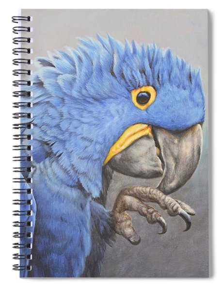 Spiral Notebook featuring the painting Hyacinth Macaw by Alan M Hunt