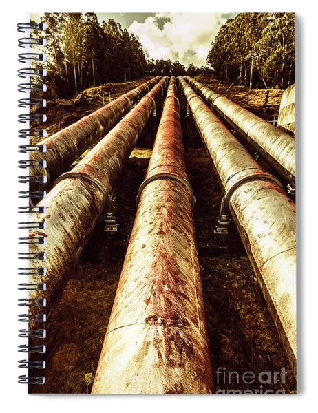 Hydroelectric Pipeline Spiral Notebook