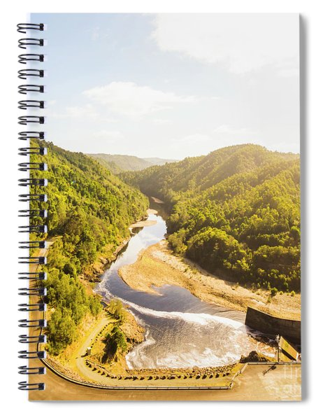 Hydropower Valley River Spiral Notebook